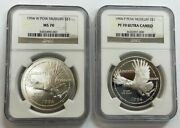 Lot Of 2 Coins Ngc 1994 W Ms70 And 1994 P Pr70 Ultra Cameo Pow Museum S1