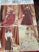 Stunning Vogue 9759 / 622 Linda Carr Fashion Doll Historical Gowns Pattern Uc Ff