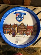 Heilmanand039s Old Style Beer Metal Sign Tray 2 Side Graphics Bar Man Cave Tavern