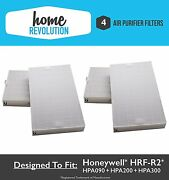 4pk Filters For Honeywell Hrf-r2 Air Purifier -hpa-090, Hpa-100, Hpa200 And Hpa300