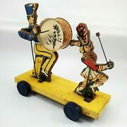 Vintage Toys 1950s Keystone Pull Toy Marching Majorette And Drummer No String