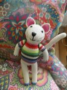 Anne Claire Petit Crocheted Cat Toy Comforter Colorful Collectible Netherlandss