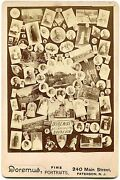 Paterson Nj New Jersey 1892 Photographer Advertising Montage Cabinet Card Photo