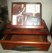Ducks Unlimited Big Sky Carvers Designed Wooden Valet Books Stand With Drawer