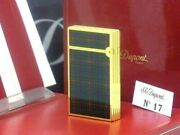 S.t. Dupont Rare Check In Line Gas Lighter Dupont Cigar Cigarette Smoking