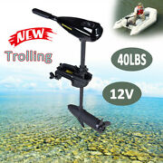 40lb 12v Thrust Electric Trolling Motor Outboard Engine Fishing Boat Motor 1700r