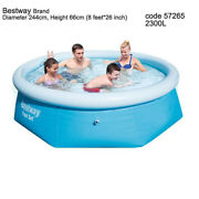 Bestway Easy Fast Set 2300l Portable Above Ground Swimming Pool +pump+filter