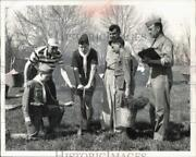 1960 Press Photo Parma Scouts And Explorers Plant Trees At Belden Township.
