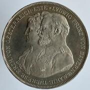 Germany Bavaria Double 2 Taler 1893 Prinz Luitpold 25 Years Wedding With Maria T