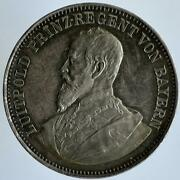 Germany Bavaria Double 2 Taler 1892 Prinz Luitpold Opening Army Monument Munchen