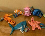 Finding Nemo - Set Of 6 Applause Plushes - Nemo, Dory, Pearl, Bruce, Peach,