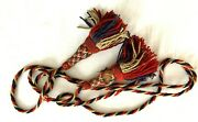 Civil War Military Flag Pole Tassels Red White And Blue Twisted Wool Cord