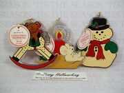 Hallmark Lot Trimmers Ornaments 1981 Snowman Mouse Rocking Horse