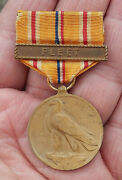 Original Ww2 Wwii Asiatic Pacific Campaign Medal With Fleet Bar
