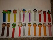 20 Vintage 90's/2000s Pez Candy Containers,spiderman,garfield The Cat,taz,kermit
