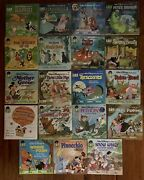 Vtg Walt Disney Book And Record Lot The Rescuers Fox And Hound Jungle Book++