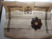 Saint Augustine 1st Class Of Hippo With Certificate Antique Reliquary Relic