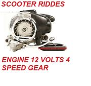 Vespa Vbb Vlb Vba Vnc Vma Gt Gtr Engine 12 Volts With 10 Inches Drum+silencer