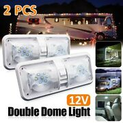 Pair Led Car Interior Double Dome Roof Ceiling Reading Trunk Indoor Light Lamp