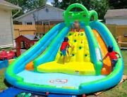 Little Tikes Mountain River Race Inflatable Water Slide Bounce House Splash Pool