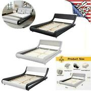 Queen Full Size Platform Bed Frame Twin Headboard Wood Iron Modern Bedroom Set