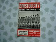 Bristol City Youth V Leeds United Youth 1/4 Final Youth Cup 69/70