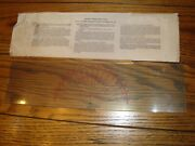 Vintage P-71 Course Protractor Plotter 4 X 15 Clear With Directions Sleeve