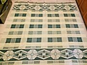 Vintage Camp Blanket Beacon Cotton Reversible 1940and039s Trade Green Floral