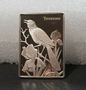 Tennesse Birds And Flowers - 1.4 Ounce Sterling Silver Ingot Franklin Mint