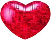 Bepuzzled Original 3d Crystal Puzzle Red Heart,ages 12+