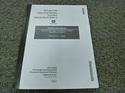 John Deere Model 325 And 345 Lawn And Garden Tractor Owner Operator Manual Omm134133