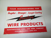 Vintage Sterling Wire Advertising Sign