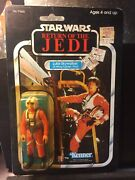 1983 Star Wars Rotj Luke X-wing 77 Back Punched Card In Excellent Condition.