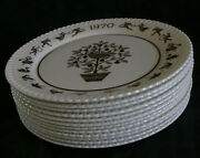 Spode Annual Holiday 8dinner Plate Set11 1970-1981 Mint W/brochures-new Low