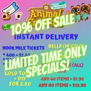 Animal Crossingnew Horizons Nook Miles Tickets Bells Fish Bait Fast Delivery
