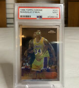 1996-97 Topps Chrome Shaquille Shaq Oandrsquoneal Lakers Rc 220 Psa 9 Rare Ebay 1/1📈