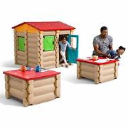 Step2 Big Builders Playhouse Tables And More 132-piece Building Set   Kids Interac