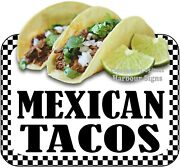 Mexican Tacos Decal Choose Your Size Food Truck Concession Vinyl Sticker