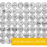 1999-2008 Complete 50 State Quarters Set D And P Mix 50 Different Circulate Coins