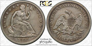 1866 S 50c No Motto Seated Liberty Half Dollar Pcgs Vf 30 Very Fine To Extra ...