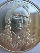 1-oz Quanah Parker Comanche Native Indian Tribal Nations .925 Silver Coin+gold