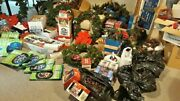 Huge Lot Of Christmas Decorations Lemax Holiday Town Memories Snow Village Wre