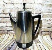 Vintage Presto 12 Cup Stainless Steel Electric Coffee Percolator No Power Cable
