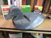 Wooden Blue Bill Duck Decoy Vintage Early 1900's Black Hunting Carved Working