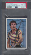 1986 Bruce Springsteen Card Psa 8 Panini Smash Hits Collection 162 One Higher