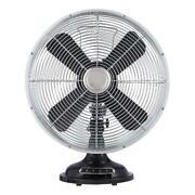 Better Homes And Gardens 12'' Retro 3-speed Metal Table Fan, Black