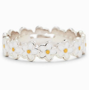 Fashion Women 925 Silver Ring Daisy Flower Sunflower Party Wedding Ring Size6-10