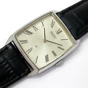 Seiko Chariot Menand039s Watch Automatic 2411-302a Case31 Mmw/o Crown Ranka