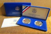 1986 Us Liberty Two-coin Set 90 Silver Us Dollar, Proof Set, Statue Of Liberty