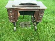 Antique Dated 1911 White Treadle Sewing Machine Whole Or Parts Working